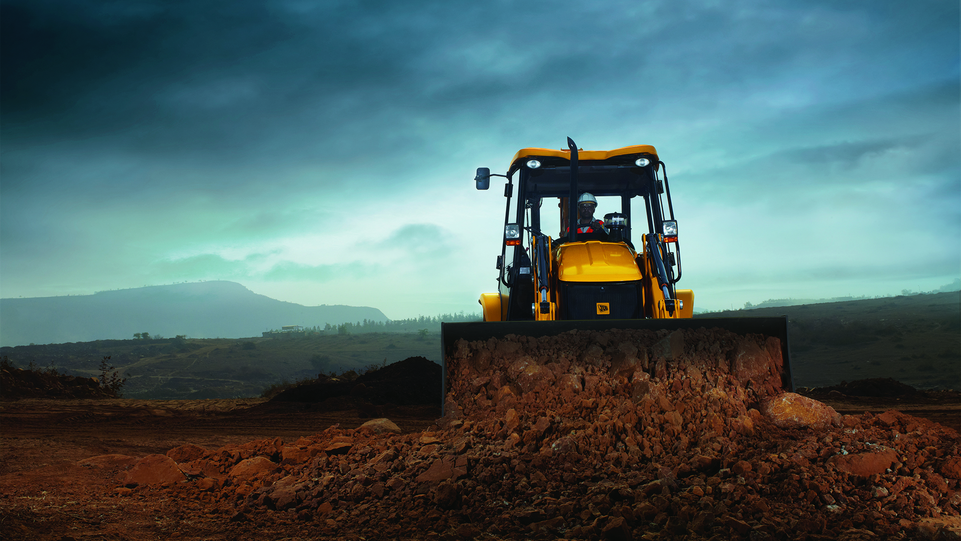 JCB Backhoe Loader 3DX Wallpaper