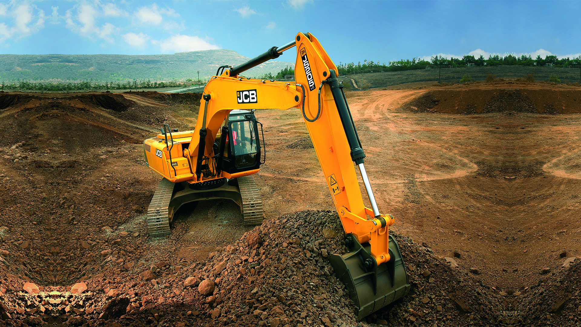 JCB JS205LC Tracked Excavator Wallpaper