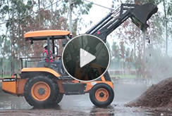 JCB Super Loader – Application in Mushroom Plantation industry